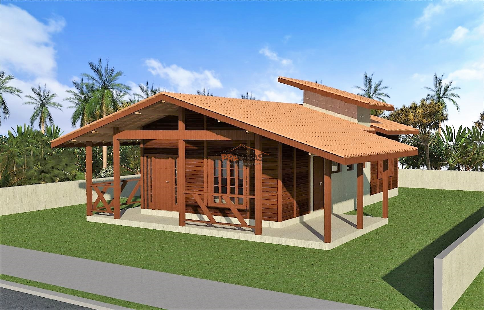 Casa de Madeira - Alegre-ES - 105,00 m²
