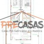 Casa de Madeira ALEGRE - ES - 105,00 m² - Planta