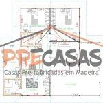 Casa de Madeira ALFREDO CHAVES - ES - 106,00 m² - Planta