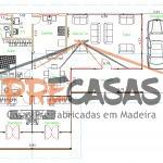 Casa de Madeira ANCHIETA-IRIRI - ES - 140,0 m2 planta