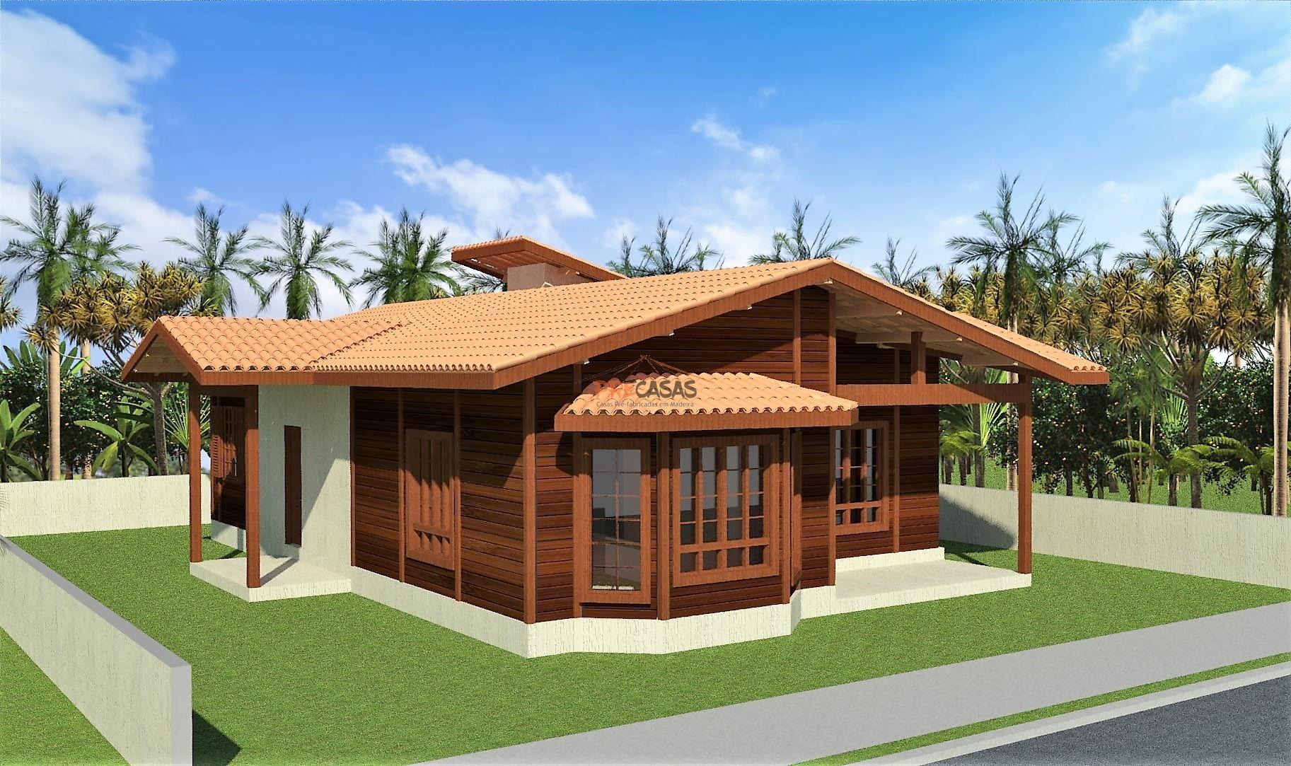 Casa de Madeira – Aracruz-ES - 118,00 m²