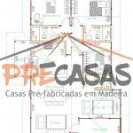 Casa de Madeira ARACRUZ - ES - 118,0 m2 planta