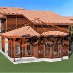 Casa de Madeira CACHOEIRO ITAPEMIRIM - ES - 150,0 m2 duplex fachada