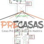 Casa de Madeira CACHOEIRO ITAPEMIRIM - ES - 150,0 m2 planta