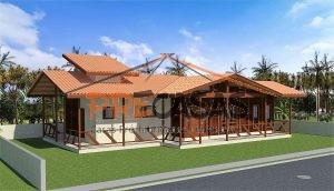 Casa de Madeira CARIACICA - ES - 125,0 m2 fachada
