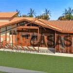 Casa de Madeira CASTELO - ES - 140,00 m² - Fachada