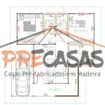 Casa de Madeira COLATINA - ES - 80,00 m2 - Planta