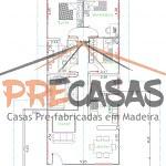 Casa de Madeira IBIRAÇU - ES - 141,00 m² - Planta