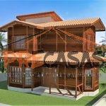 Casa de Madeira LINHARES - ES - 92,00 m² Duplex - Fachada