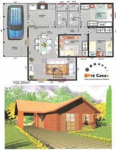 Projeto em Promoção - Pré Casas - 102 m² - R$ 61.200,00