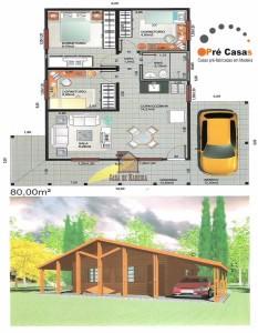 Projeto em Promoção - Pré Casas - 80 m² - R$ 48.000,00