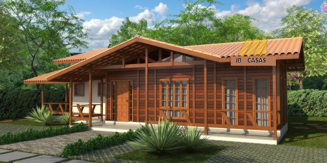 Casa de Madeira - Nova Almeida-ES - 123,00 m² - Pré Casas