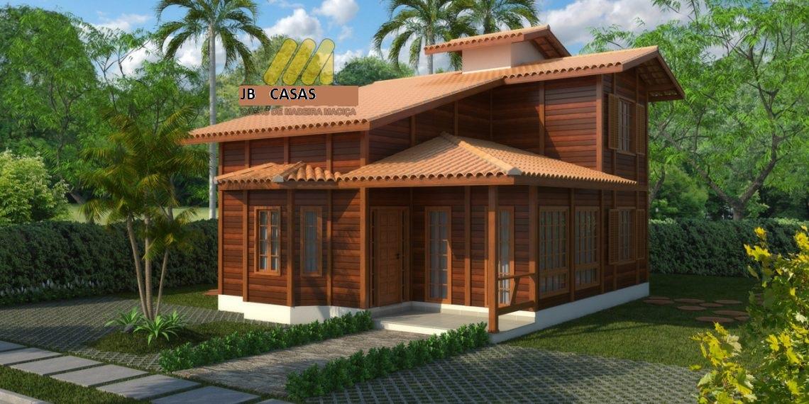 Casa de Madeira - Pedra Azul-ES - 105,03 m² - Pré Casas