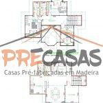 Casa de Madeira SÃO MATEUS - ES - 159,00 m² Duplex - Planta