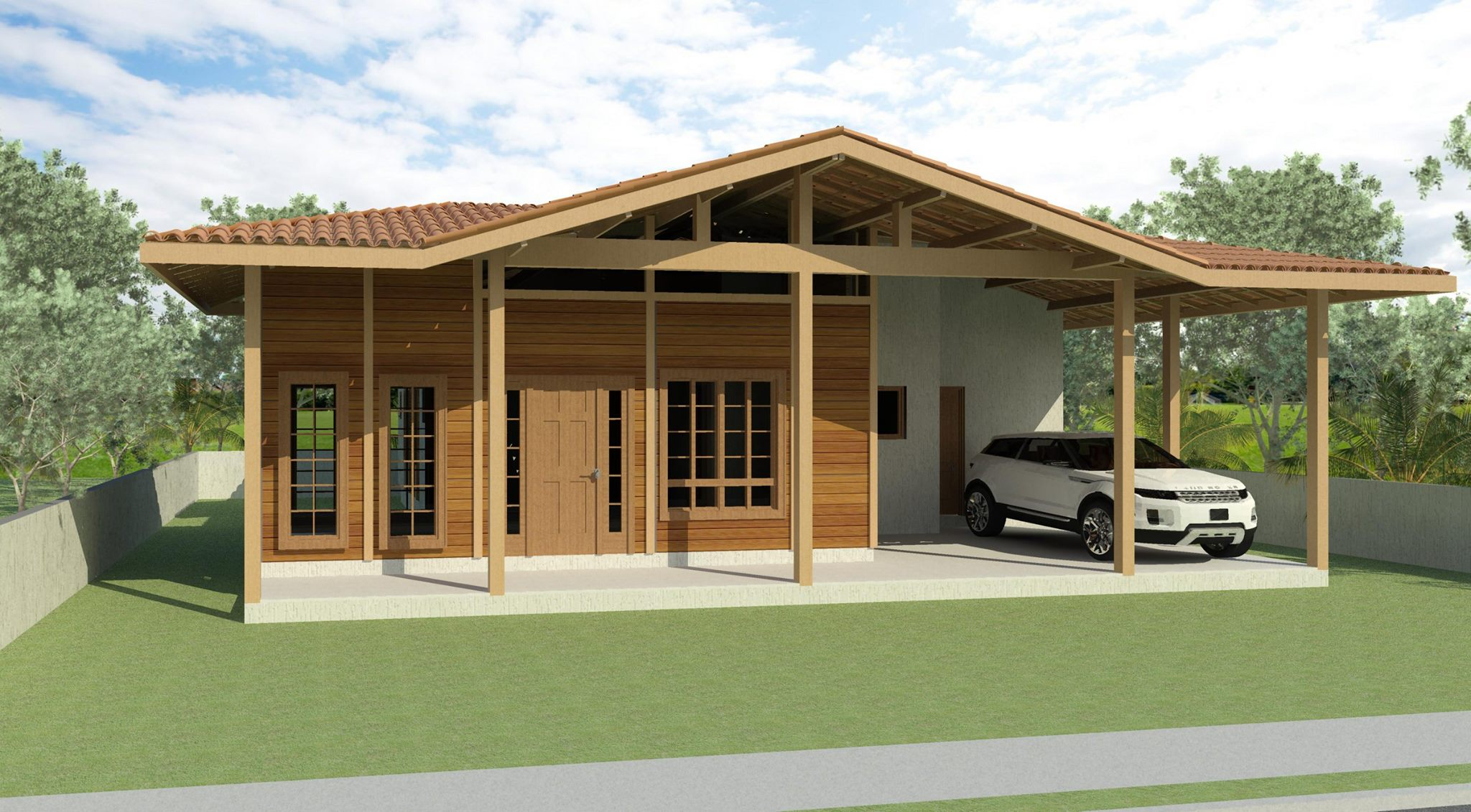 Casa de Madeira - Santa Leopoldina-ES - 135,00 m² - Pré Casas