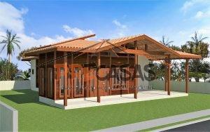 Casa de Madeira SERRA - ES - 138,00 m² - Fachada