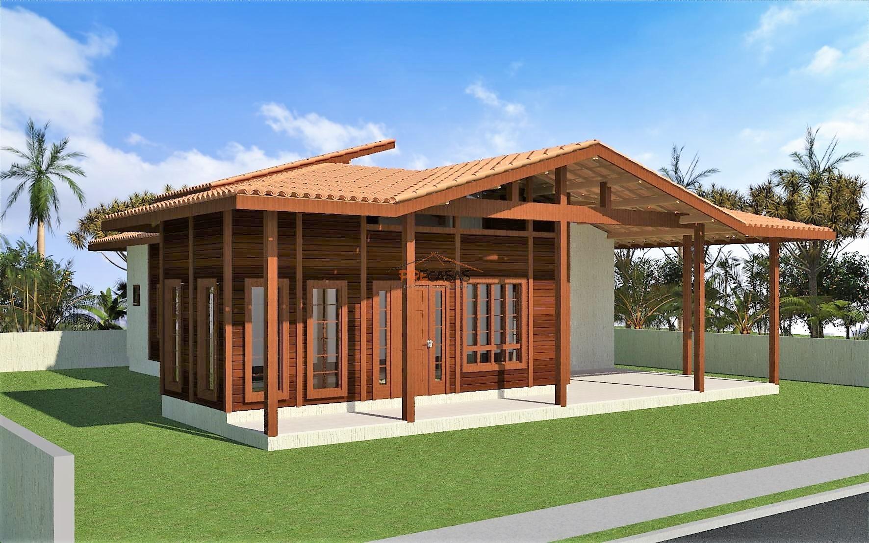 Casa de Madeira - Serra-ES - 138,00 m² - Pré Casas