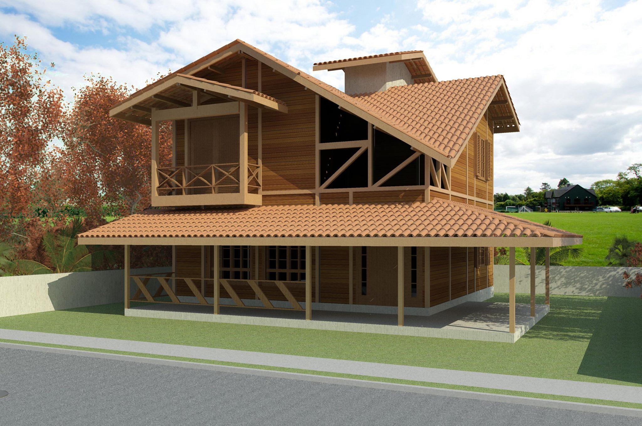 Casa de Madeira - Vargem Alta-ES - 165,68 m² - Pré Casas