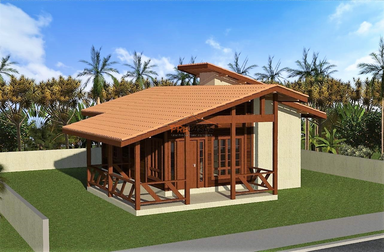 Casa de Madeira - Venda Nova do Imigrante-ES - 75,00 m² - Pré Casas