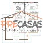 Casa de Madeira VENDA NOVA IMIGRANTE - ES - 75,00 m² - Planta