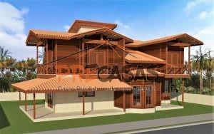 Casa de Madeira VILA VELHA - ES - 245,00 m² Duplex - Fachada