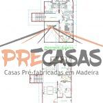 Casa de Madeira VITORIA - ES - 158,00 m² Duplex - Planta