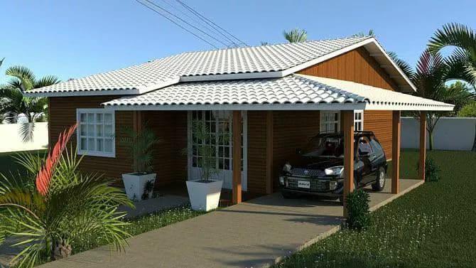 Promoção Casas Pré - Casa de Madeira 60 m²