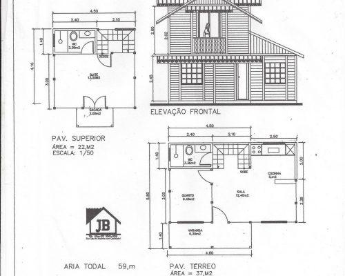 59 m² Duplex Planta