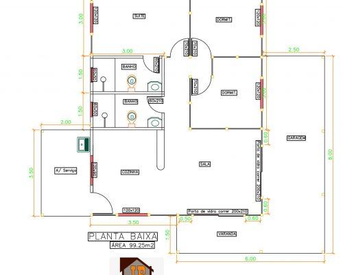 Casa Térrea de Madeira – Modelo Santa Teresa-ES – 100 m²